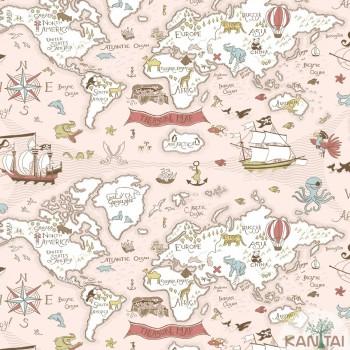 Papel de Parede Mapa, Animais Baby Charmed BB220301