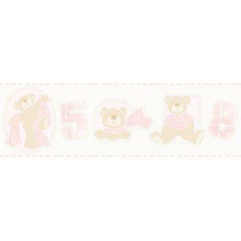 Faixas Papel de Parede Ursos e Números Bambino´s Ref. 3207