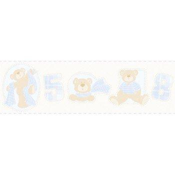 Faixas Papel de Parede Ursos e Números Bambino´s Ref. 3208