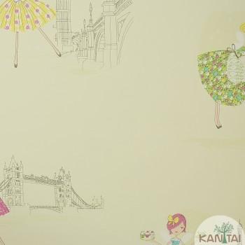 Papel de Parede Desenhos, Bonecas Beauty Wall REF: GF073801