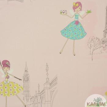 Papel de Parede Desenhos, Bonecas Beauty Wall REF: GF073802