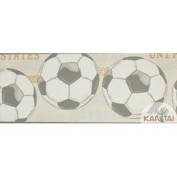 Faixa Papel de Parede Bolas de Futebol Beauty Wall REF: GF074104B