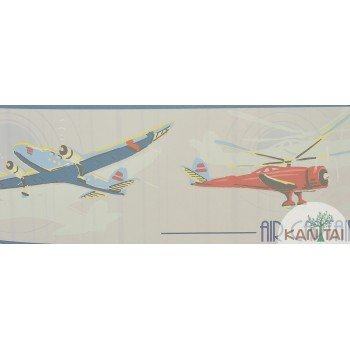Faixa Papel de Parede Avião Beauty Wall REF: GF083901B
