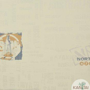 Papel de Parede Marinha, América, Letras Beauty Wall REF: GF084503