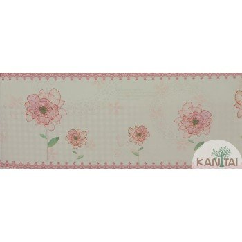 Faixa Papel de Parede Floral Beauty Wall REF: GF084901b