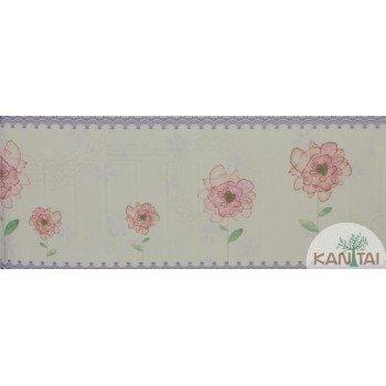 Faixa Papel de Parede Floral Beauty Wall REF: GF084902b