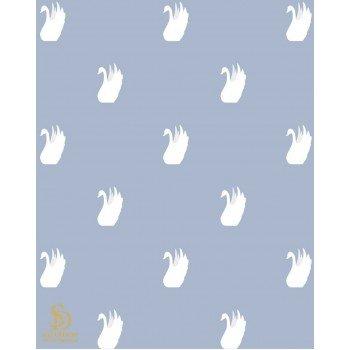 Papel de Parede por m2 Cisnes branco e fundo azul