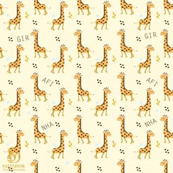 Papel de Parede por m2 Girafinhas