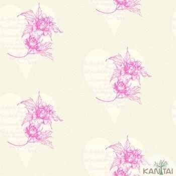 Papel de Parede Flores, Corações DaVince II Ref.DV120801