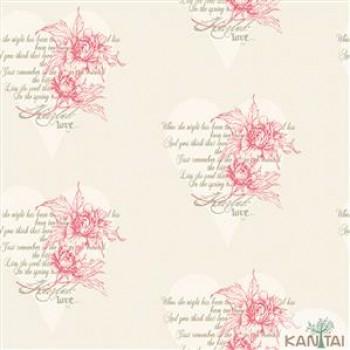 Papel de Parede Flores, Corações DaVince II Ref.DV120802