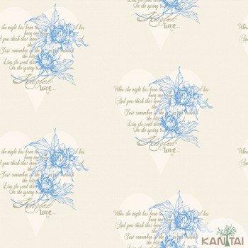 Papel de Parede Flores, Corações DaVince II Ref.DV120803