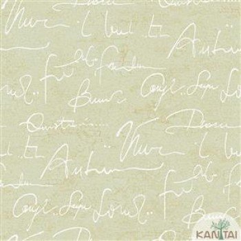 Papel de Parede Escritas, Letras DaVinci II Ref.DV120907