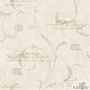 Papel de Parede Letras, Arabesco DaVinci II Ref.DV121201