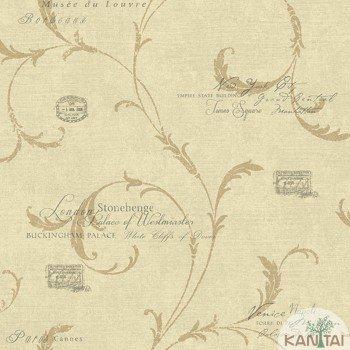 Papel de Parede Letras, Arabesco DaVinci II Ref.DV121203