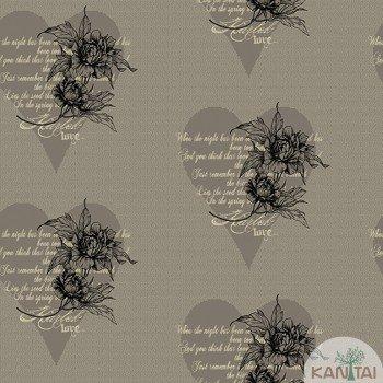 Papel de Parede Flores, Corações DaVince II Ref.DV120805