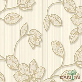 Papel de Parede Flores, Listras Element 3 Ref. 3E303102R