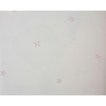 Papel de parede estrelas rosa Olá Baby REF .FA38103