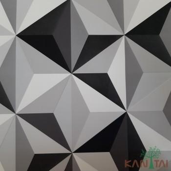 Papel de Parede Geométrico 3D Grace III Ref.3G201802R