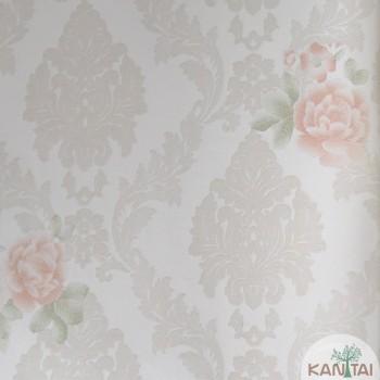 Papel de Parede Arabesco, Flores Grace III Ref.3G204501R