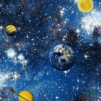 Papel de Parede Espaços com Planetas Hello Kids Ref. HK222901