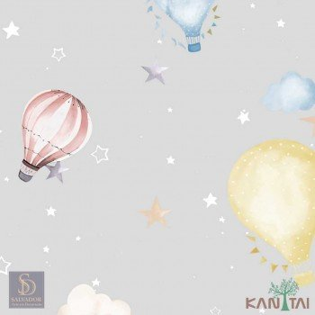 Papel de Parede Balão com Estrelas Hello Kids Ref. HK223701