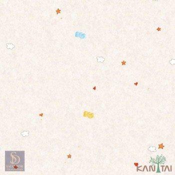 Papel de Parede Estrelas, Nuvens, Coração Hello Kids Ref. HK224701