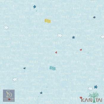Papel de Parede Estrelas, Nuvens, Coração Hello Kids Ref. HK224704