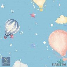 Papel de Parede Balão com Estrelas Hello Kids Ref. HK223702