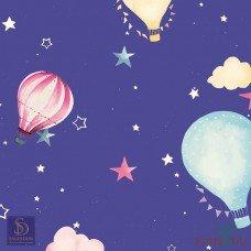 Papel de Parede Balão com Estrelas Hello Kids Ref. HK223703