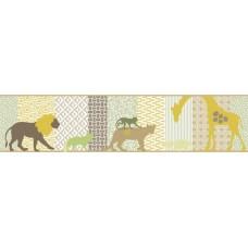 Faixa Papel de Parede Animais, Safári Infantário Ref. 1909