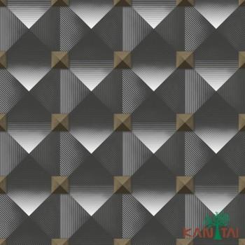 Papel de Parede Geométrico 3D Metropolis II REF:MT781001R