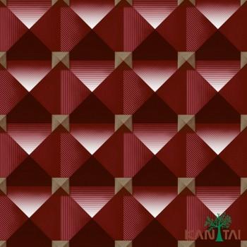Papel de Parede Geométrico 3D Metropolis II REF:MT781004R