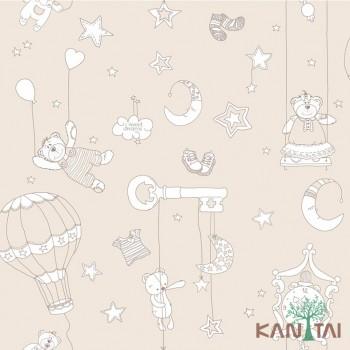 Papel de Parede Balões Ursos e Estrelas Ola Baby 2 Ref. OL220902