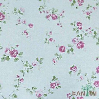 Papel de Parede Floral Rosas Ola Baby 2 Ref. OL220501