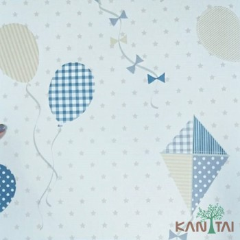 Papel de Parede Balões e Pipa Ola Baby 2 Ref. OL220801