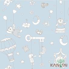 Papel de Parede Céu Balões e Ursos Ola Baby 2 Ref. OL220901