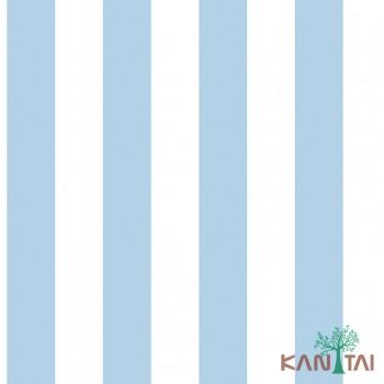 Papel de Parede Listras azul e branco Ola Baby 2 Ref. OL221101