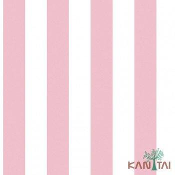 Papel de Parede Listras rosa e branco Ola Baby 2 Ref. OL221102