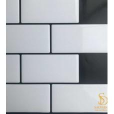 Pastilha Adesiva Azulejo de Metrô White 26x32,5cm - MW001