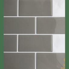 Pastilha Adesiva Azulejo de Metrô Gray 26x32,5cm - MW003