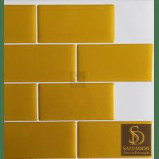 Pastilha Adesiva Azulejo de Metrô Yellow 26x32,5cm - MW0012