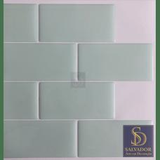 Pastilha Adesiva Azulejo de Metrô Mint 26x32,5cm - MW0013