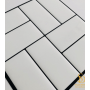 Pastilha Adesiva Azulejo de Metrô Concepet White 25,5cmx25,5cm - MW001