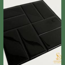 Pastilha Adesiva Azulejo de Metrô Concepet Black 25,5cmx25,5cm - MW002
