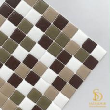 Pastilha Adesiva Resinada 28x28cm Chocolate com Canela  - PPR003