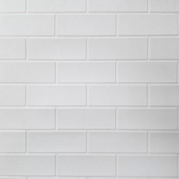 Painel 3D Tijolo Liso Branco Auto Adesivo 70x77 - Ref. 38600301B