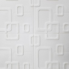 Painel 3D Retângulos Branco Auto Adesivo 70x70 - Ref. 38700901B