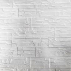 Painel 3D Tijolo Industrial Branco Auto Adesivo 70x70 - Ref. 38600201B