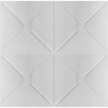 Painel 3D Capitonê Branco Auto Adesivo 70x70 - Ref. 38600501B