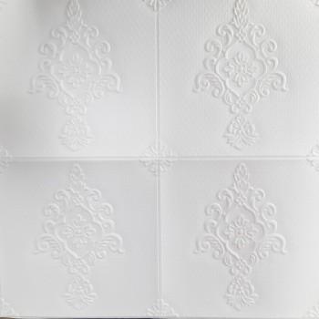 Painel 3D Barroco Branco Auto Adesivo 70x70- Ref. 38600601B